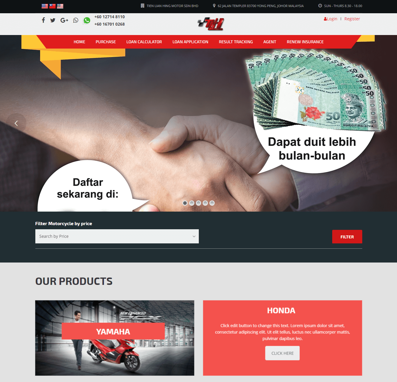 E commerce - Moto